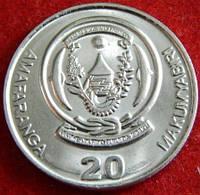 Монета Руанды. 20 франков 2003 год.