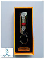 USB зажигалка брелок 1050 серебро