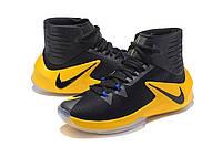 Баскетбольные кроссовки Nike Zoom Clear Out black-yellow