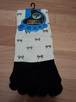 """Женские носки с пальчиками, белые цветом, """" Бант """""""