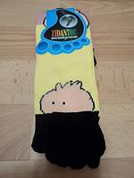 """Женские носки с пальчиками, желтые цветом, """" Мордочка """""""