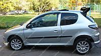 Ветровики окон Пежо 206 (дефлекторы боковых окон Peugeot 206)
