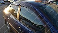 Ветровики окон Peugeot 206 sd/hb (дефлекторы боковых окон Пежо 206)