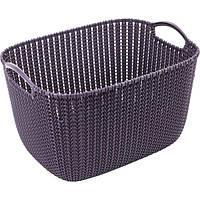 Корзина для вещей Curver Knit L фиолетовая