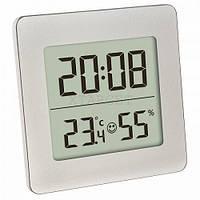 Термогигрометр цифровой TFA, 94x37x94 мм, серебристый