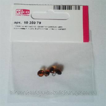 Глазки стеклянные для кукол на металлической петле,коричневый,6 мм