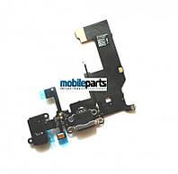 Оригинальный Разъем Зарядки и Гнездо Наушников для iPhone 5 (черный)