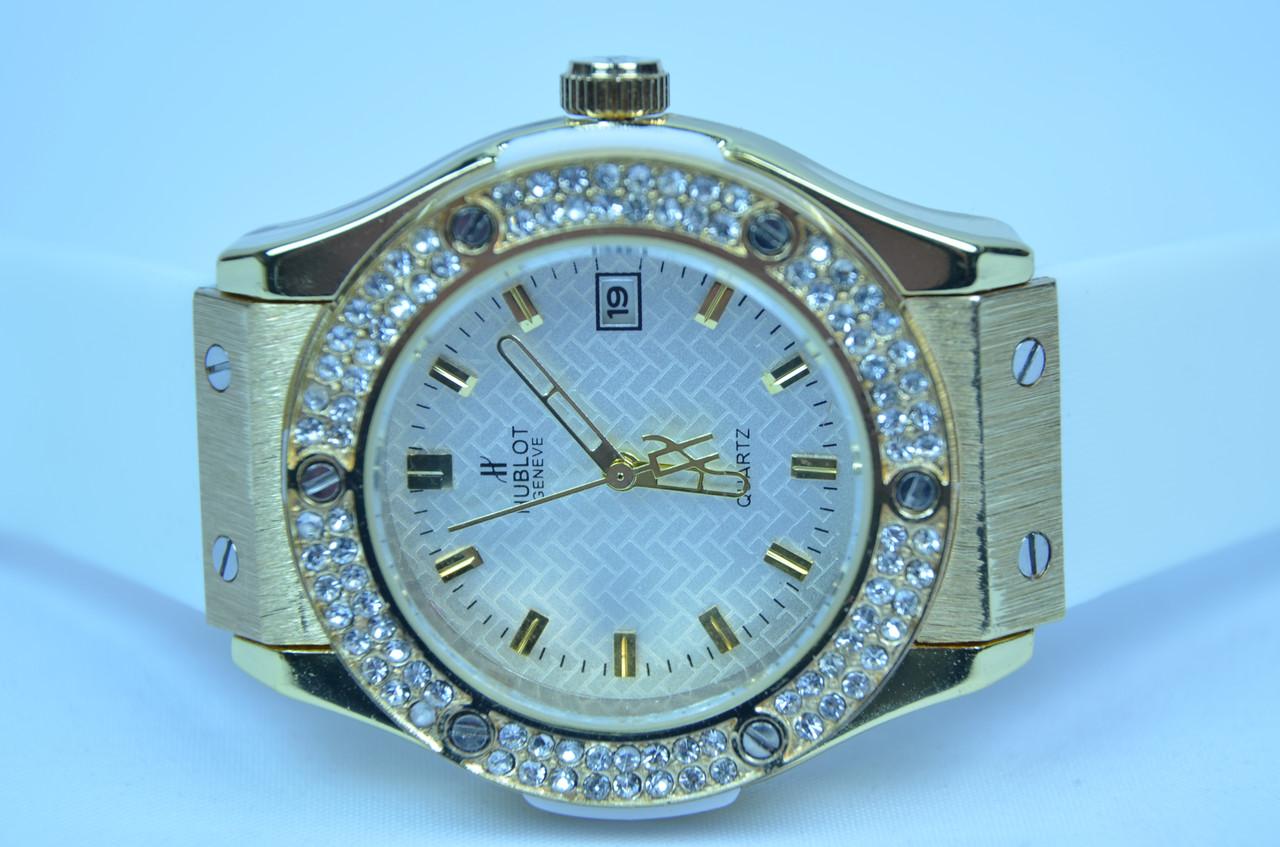 Женские часы HUBLOT Big Bang white календарь