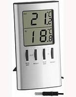 Термометр цифровой TFA, внешний проводной датчик, 120х64х22 мм