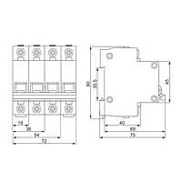Автоматический выключатель ИЭК ВА47-29М 2P 40A 4,5кА