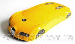 "Телефон-машинка Bugatti C618 (2 SIM) 2,2"" 0,3 Мп металлическая! yellow желтая Гарантия!"