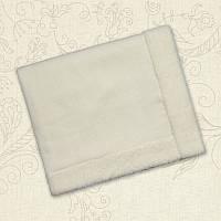 Плед Снежок-4 Вязка/махра Цвет молочный Размер 90*100 см Бетис