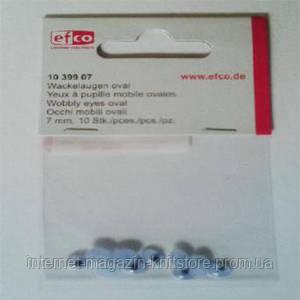 Глазки подвижные, овальные, пластик, диаметр 7 мм, 10 шт в упаковке