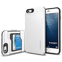 Чехол Spigen для iPhone 6S Plus/6 Plus Slim Armor CS, Shimmery White, фото 1