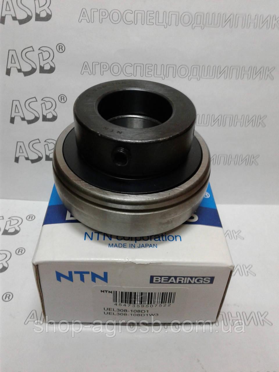 Подшипник NTN UEL308-108D1W3, GN108KRRB, GN108KLLB, EX308-24G2