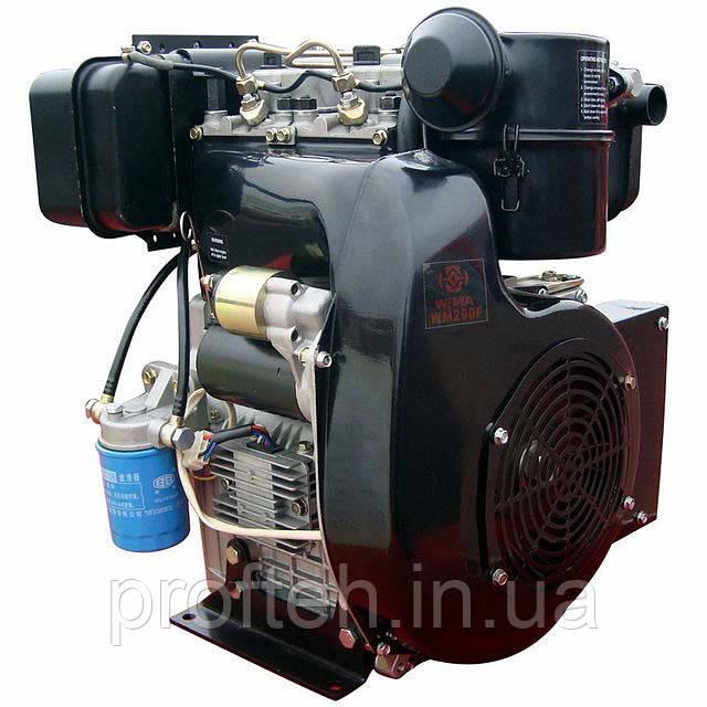 Двигун дизельний Weima WM290FE (20 л. с., 2 цил., ел.стартер, шпонка або конус)