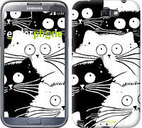 "Чехол на Samsung Galaxy Note 2 N7100 Коты v2 ""3565c-17"""