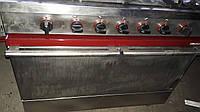 Ambassade газовая профессиональная плита на 5 горелок з газовой духовкой из нержавейки, фото 1