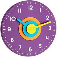 Годинник настінний TFA Polo, d=230x40 мм, бузковий