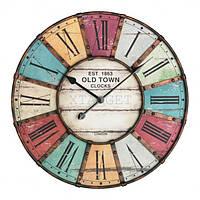 Часы настенные TFA Vintage, XXL, античный стиль, металл, d=600x50 мм