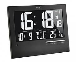 Часы настенные TFA цифровые с автоматическим подсвечиванием, 230x31(80)x185 мм