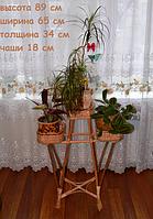 """Подставка для цветов """"Башня из лозы на 3 чаши"""""""