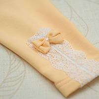 Лосины для девочки Мереживо Футер/стрейч  Цвет голубой, желтый, ментол Размер 80 Бетис