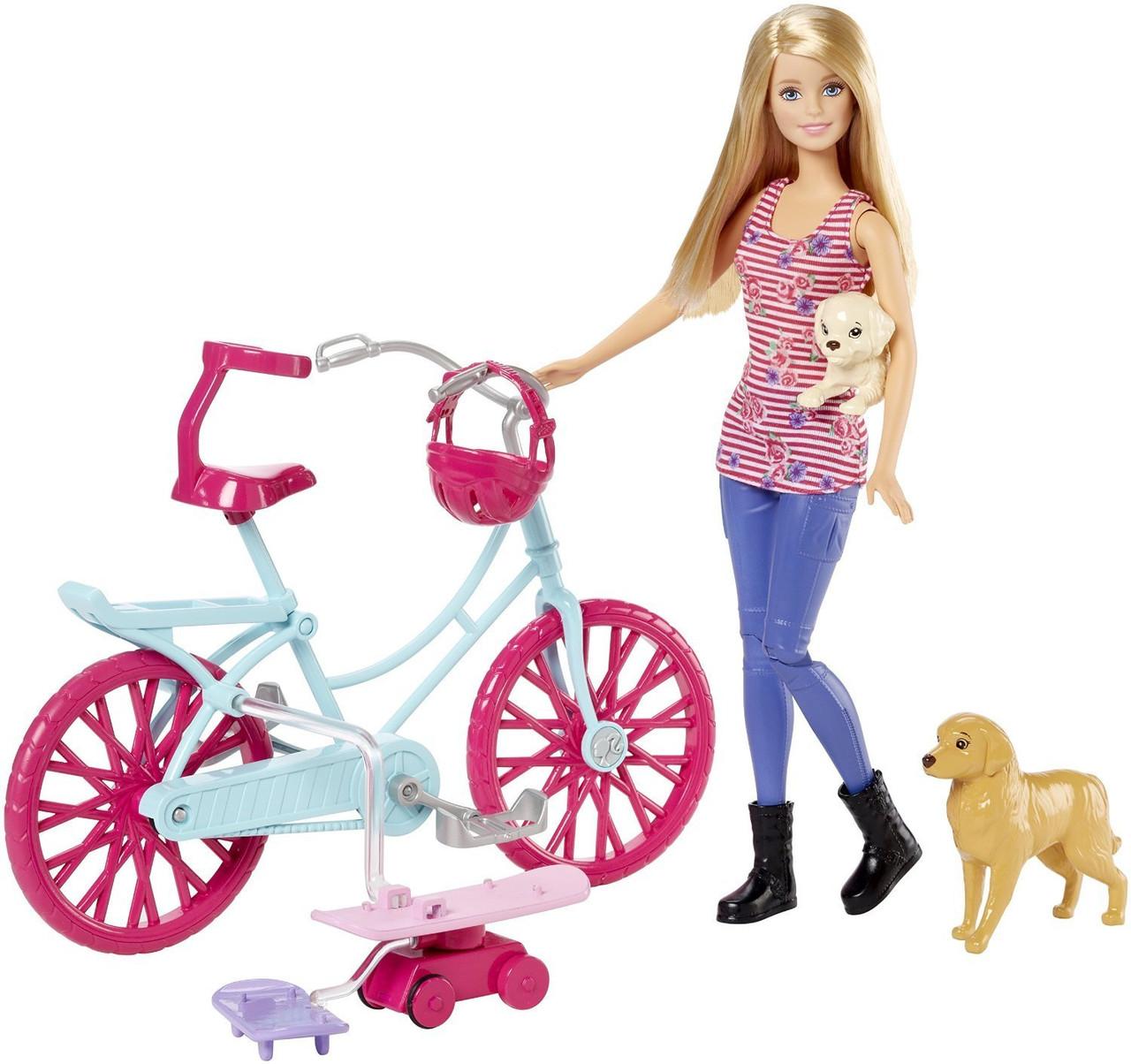 Игровой набор Барби на велосипеде с собачками Barbie Spin 'N Ride Pups
