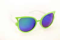 Салатовые  очки  с цветной линзой