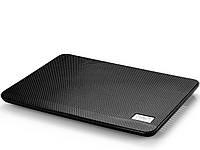 Подставка для ноутбука до 14' DeepCool N17, Black, 14 см вентилятор (21 dB, 1000 rpm), алюминиевая сетка, 330х250х25 мм, 465 г