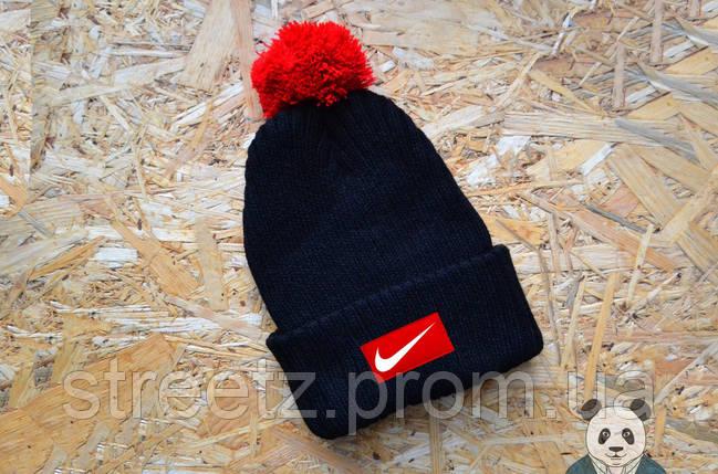Зимняя шапка с бубоном Nike / Найк , фото 2