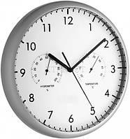 Часы настенные TFA, с термометром и гигрометром, d=265x35 мм