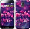 "Чехол на Samsung Galaxy S5 Duos SM G900FD Пурпурные цветы ""2719c-62"""