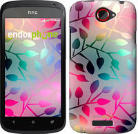 "Чехол на HTC One S z560e Листья ""2235u-226"""