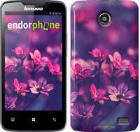 """Чехол на Lenovo A820 Пурпурные цветы """"2719c-68"""""""