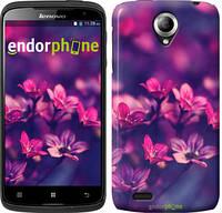"""Чехол на Lenovo S820 Пурпурные цветы """"2719c-52"""""""