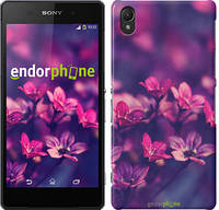 """Чехол на Sony Xperia Z2 D6502/D6503 Пурпурные цветы """"2719c-43"""""""
