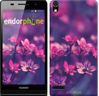 """Чехол на Huawei Ascend P6 Пурпурные цветы """"2719c-39"""""""