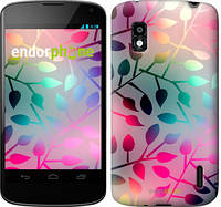 "Чехол на LG Nexus 4 E960 Листья ""2235u-203"""