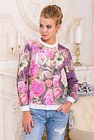 Свитшот GLEM Розы Dior кофта Свитшот №1ДН д/р