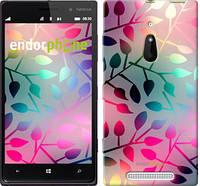 "Чехол на Nokia Lumia 830 Листья ""2235u-329"""