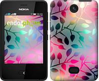 """Чехол на Nokia Asha 501 Листья """"2235u-209"""""""