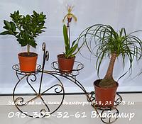 Велосипед, підставка для квітів на 3 чаші, фото 1