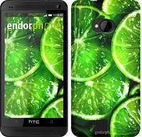 """Чехол на HTC One M7 Зелёные дольки лимона """"852c-36"""""""