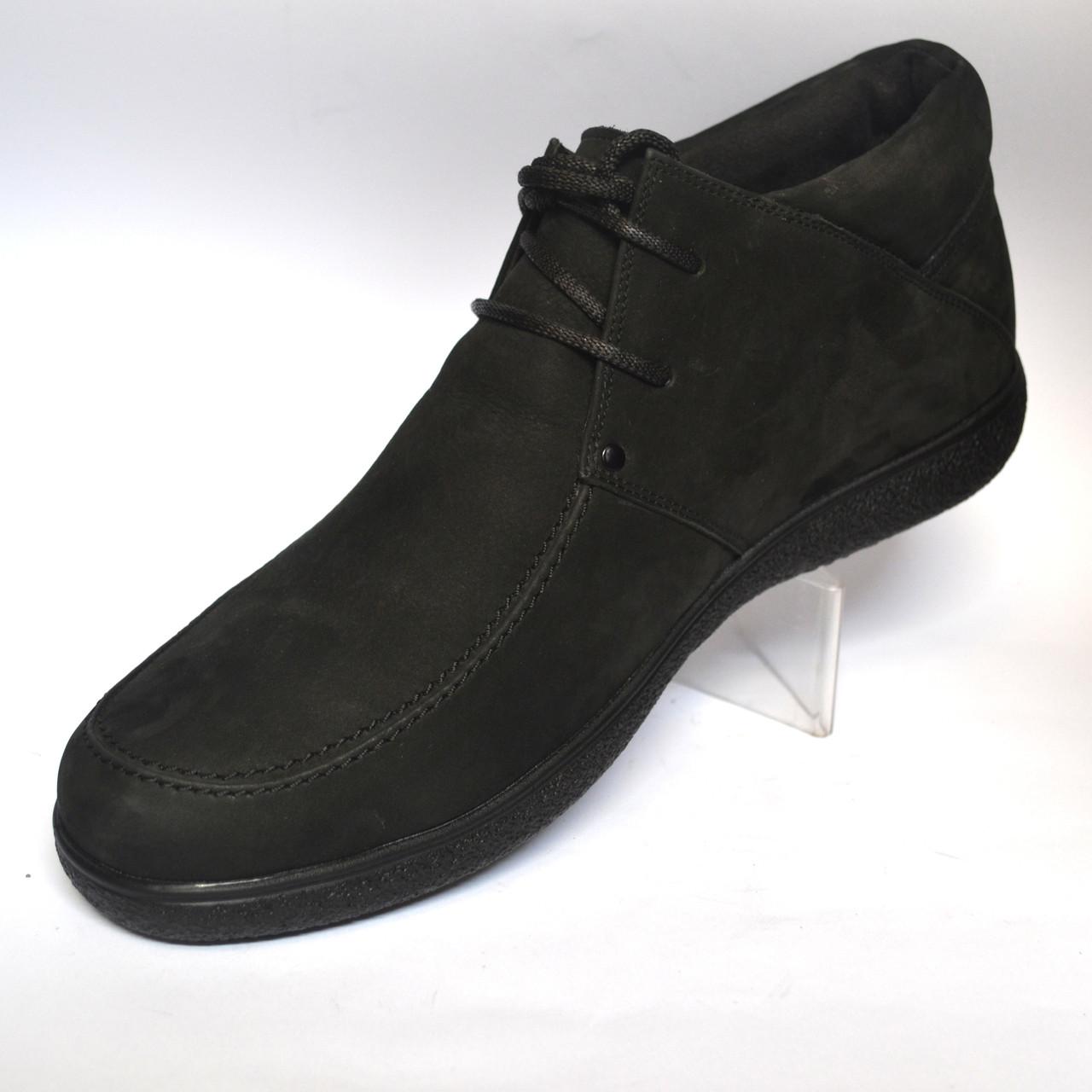 b87b52a70 ... фото Большой размер кожаные зимние мужские ботинки мокасины натуральные  Rosso Avangard Basemokas Nub BS нубук, ...
