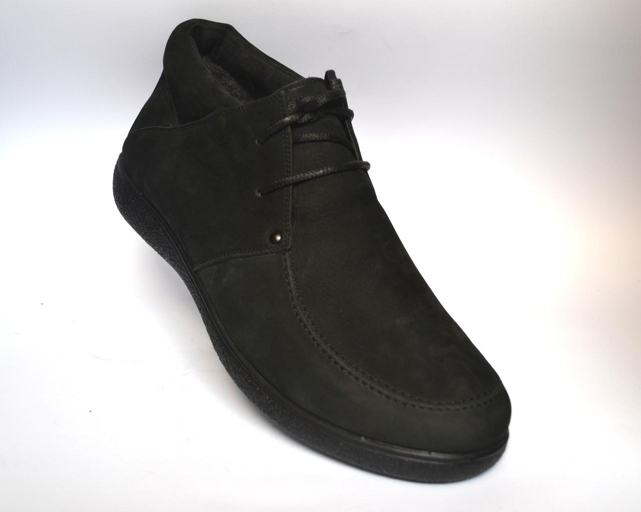 Большой размер кожаные зимние мужские ботинки мокасины натуральные Rosso Avangard Basemokas Nub BS нубук