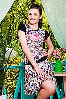 Юбка GLEM Розы-квадраты юбка Принт1