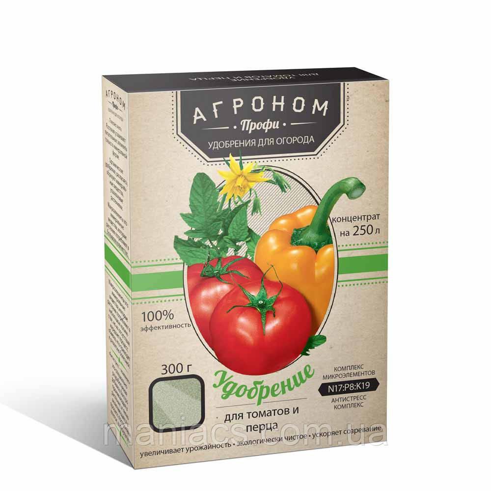 """Удобрение """"Агроном профи"""", для томатов и перца, 0,3 кг"""