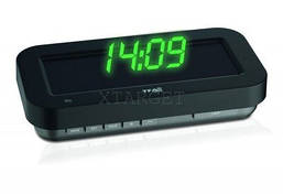 Часы проекционные TFA HOLO clock, 3D-эффект, зелёная индикация, адаптер, 165x84x35 мм