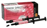 Gradia Direct LoFlo (Градиа Директ ЛоФло), гибридный композит, шприц 1.5г, GC, Япония